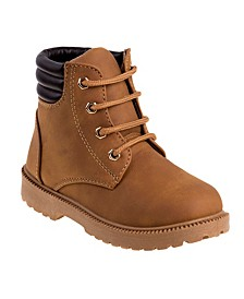 Rugged Bear Big Boys and Girls Casual Boots with Lace Up Closure