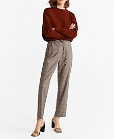 Drawstring Waist Straight Trousers
