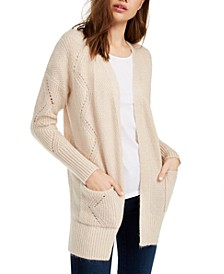 Juniors' Open-Front Cardigan