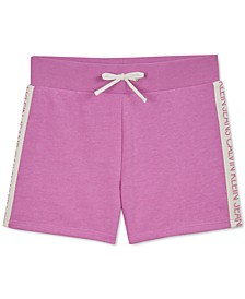 Big Girls Logo-Tape Soft Shorts