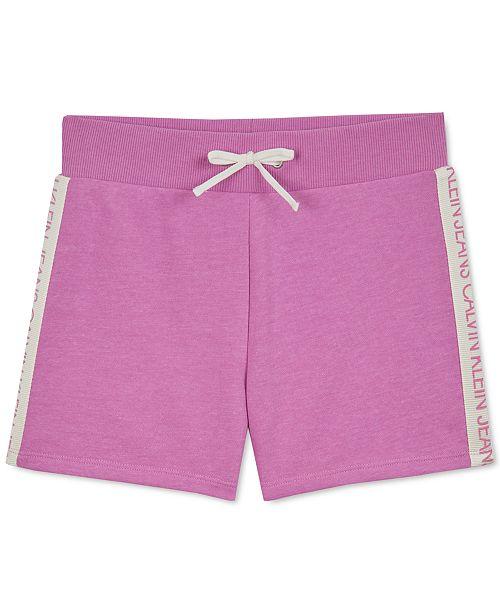 Calvin Klein Big Girls Logo-Tape Soft Shorts