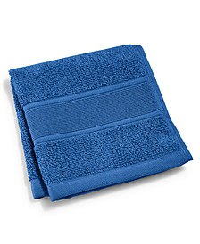 "Sanders  Antimicrobial Cotton Solid 13"" x 13"" Wash Towel"