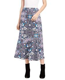 Petite Diagonal-Seamed Skirt