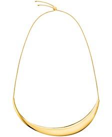 """Sculptured Crescent Adjustable 15-3/4"""" Choker Necklace"""
