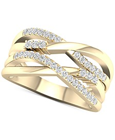 Diamond Multi-Row Overlap Statement Ring (1/3 ct. t.w.) in 10k Gold