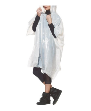 Be prepared, whatever the weather, with these waterproof ponchos & handy pouch. Contains 2 rain ponchos and a drawstring pouch for convenient storage, this emergency rainwear will ensure you don\'t get caught out. Compact, lightweight and featuring an integrated belt clip, the pouch attaches easily to any rucksack, bag or clothing.