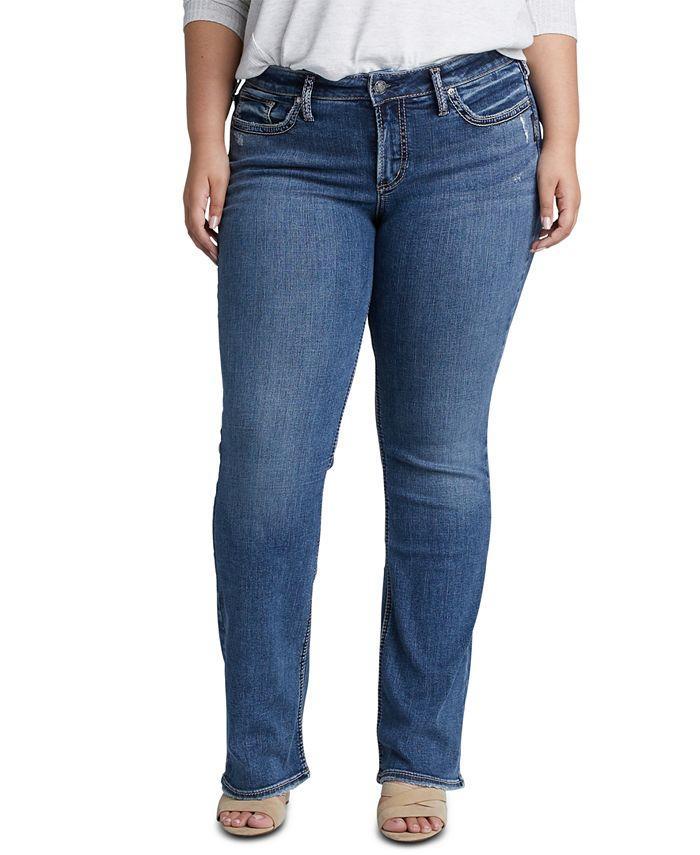 Silver Jeans Co. - Trendy Plus Size Suki Slim Bootcut Jeans