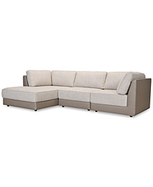 Mattley 3-Pc. Fabric Sofa with Chaise, Created for Macy's