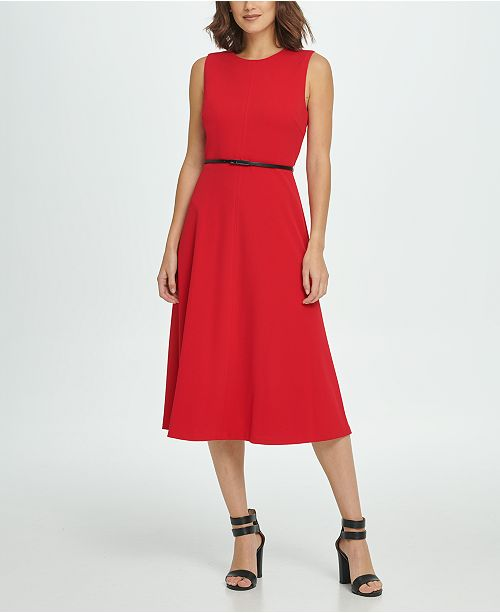 DKNY Seamed Midi Dress
