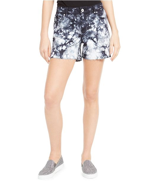 INC International Concepts INC Tie-Dyed Denim Shorts, Created For Macy's