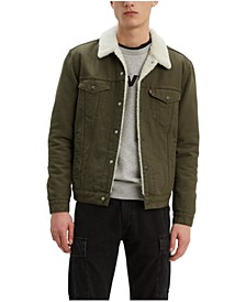 Men's Sherpa Canvas Trucker Jacket