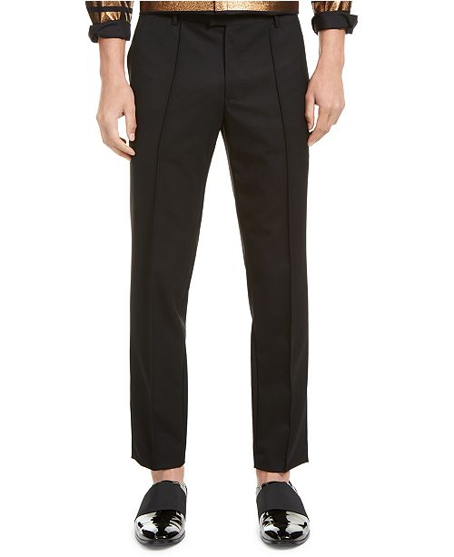 INC International Concepts INC ONYX Men's Slim-Fit Pintuck Pleated Pants, Created For Macy's