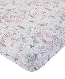 Dwell Arden Butterfly Crib Sheet