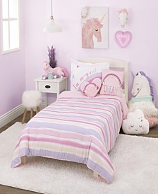 Watercolor Rainbow 2-Piece Twin Bedding Set
