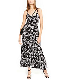 INC Surplice Printed Maxi Dress, Created For Macy's