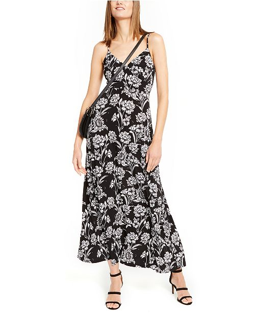 INC International Concepts INC Surplice Printed Maxi Dress, Created For Macy's