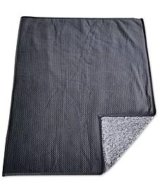 Reversible Velvet Pinsonic Fleece Throw