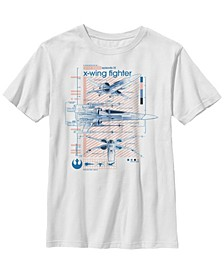 Big Boys Episode 9 X-Wing Fighter Short Sleeve T-Shirt