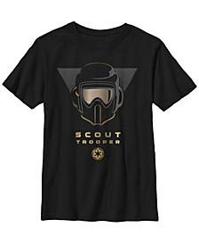 Big Boys Fallen Order Golden Scout Trooper Short Sleeve T-Shirt