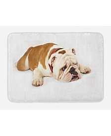 English Bulldog Bath Mat