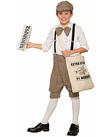 Big Boy's Newsboy Costume