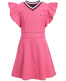Little Girls Ruffle-Sleeve Dress