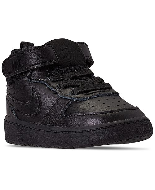 Nike Toddler Boys Court Borough Mid 2 Stay-Put Closure Casual Sneakers from Finish Line