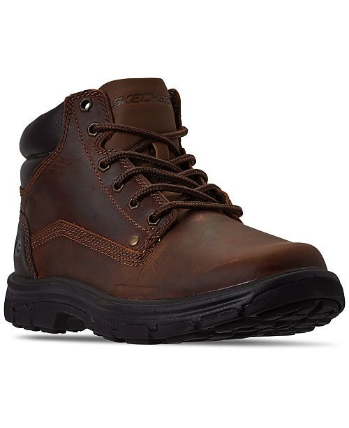 Skechers Men's Relaxed Fit Segment Garnet Ankle Boots from Finish Line