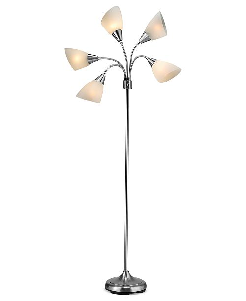 Adesso 5 light floor lamp lighting lamps home macys main image main image mozeypictures Choice Image