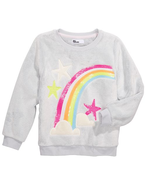 Epic Threads Little Girls Rainbow Sweatshirt, Created For Macy's
