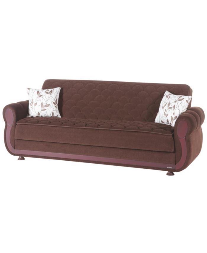 Hudson Argos Brown 3 Seat Sleeper & Reviews - Furniture - Macy's