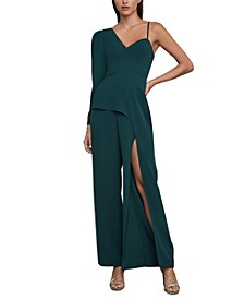 Draped Cutout-Back Jumpsuit