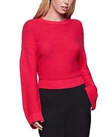 Open-Knit Cropped Sweater