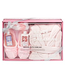 Tri-Coastal Pink Robe & Slippers Bath Gift Set, Online Only