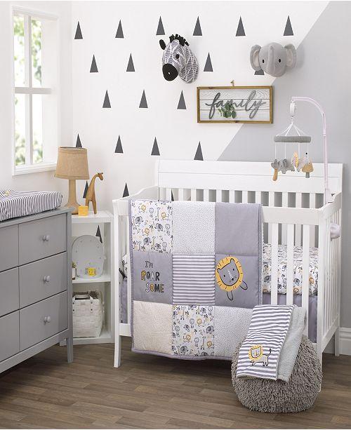 NoJo Roarsome Lion 3-Piece Crib Bedding Set