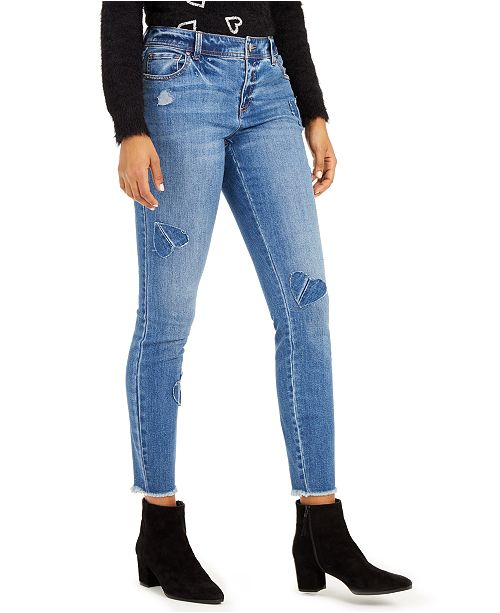 INC International Concepts INC Heart-Patch Skinny Jeans, Created For Macy's