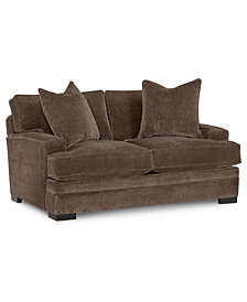 "Teddy 66"" Fabric Loveseat, Created for Macy's"