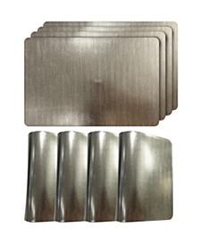 """Reversible Metallic Shimmering Crocodile Skin 12"""" x 18"""" Placemats - Set of 4"""