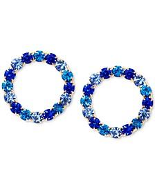 Gold-Tone Crystal Ombré Circle Drop Earrings