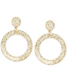 Glitter Resin Drop Hoop Earrings