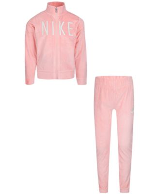 Little Girls 2-Pc. Velour Jacket & Jogger Pants Set
