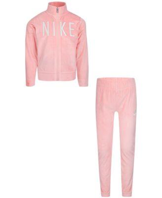 Pink Velvet Girls 2-Piece Leggings Set Outfit