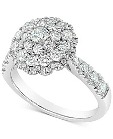 Round Cluster Ring (1-1/2 ct. t.w.) in 18k White Gold
