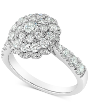 Vintage Inspired Round Cluster Ring (1-1/2 ct. t.w.) in 18k White Gold