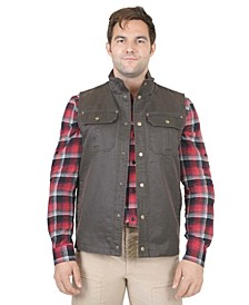 Men's Flannel Lined Waxed Cotton Vest