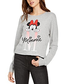 Juniors' Minnie Mouse Long-Sleeved Graphic T-Shirt by Hybrid