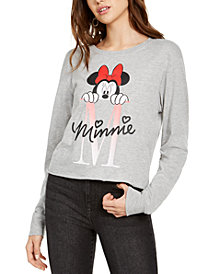 Disney Juniors' Minnie Mouse Long-Sleeved Graphic T-Shirt by Hybrid