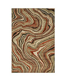 """Expressions Sediment Ginger 5'3"""" x 7'10"""" Area Rug"""