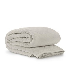 Jennifer Adams Taupe Diamond Queen Blanket/Coverlet