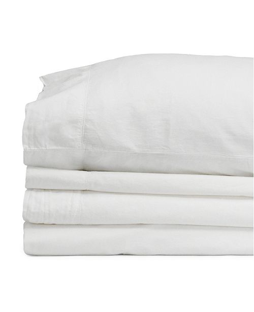 Jennifer Adams Home Jennifer Adams Relaxed Cotton Percale Full Sheet Set